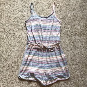 NWOT Striped Drawstring Romper